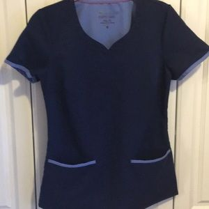 Tops - Purple Label Blue Short Sleeve Scrub Top-S